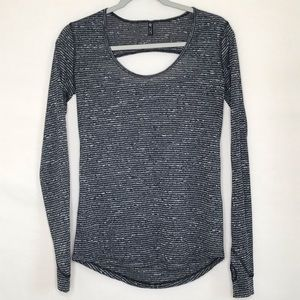 ONZIE Black and Gray Yoga Long Sleeve Top~One Size
